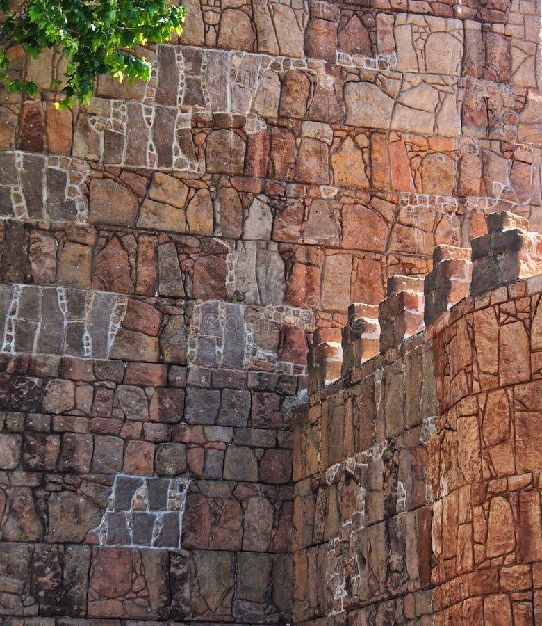 Fortalecimientos de piedra históricos, Barcelona, España fotografía de archivo libre de regalías