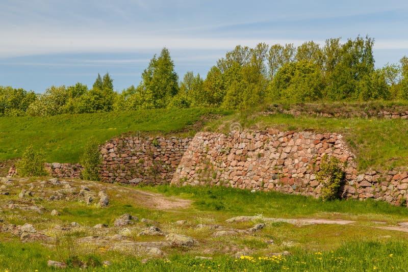 Fortalecimientos de Vyborg imagen de archivo