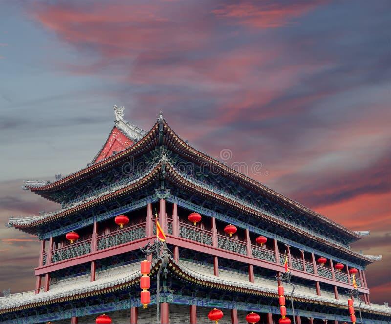 Fortalecimientos de Xian (Sian, Xi'an), China fotografía de archivo