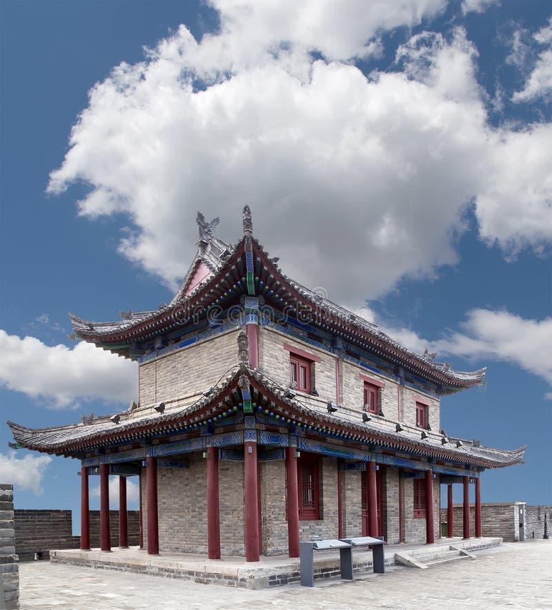 Fortalecimientos de Xian (Sian, Xi'an), China foto de archivo
