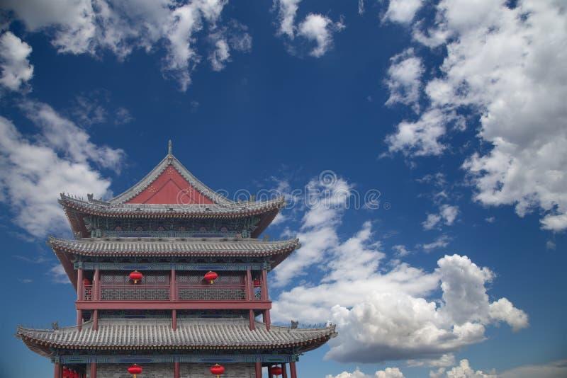 Fortalecimientos de Xian (Sian, Xi'an) una capital antigua de China foto de archivo libre de regalías