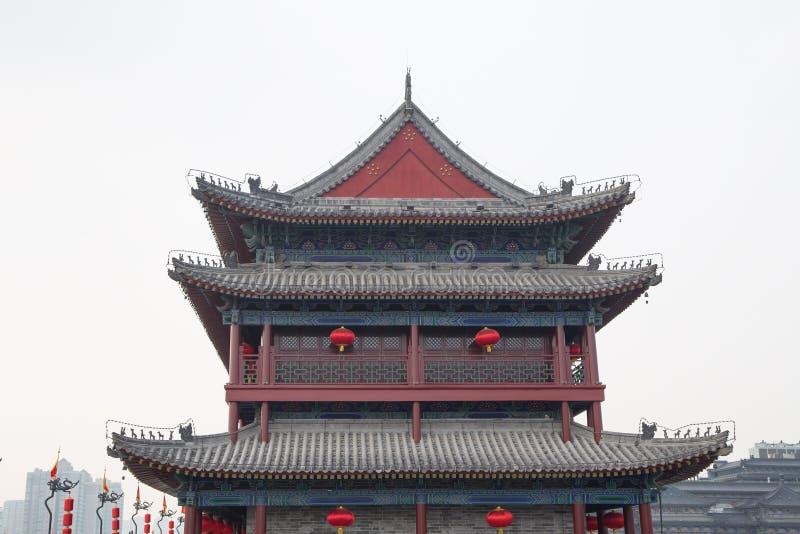 Fortalecimientos de Xian (Sian, Xi'an) una capital antigua de China imágenes de archivo libres de regalías