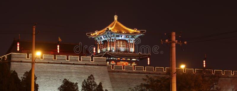Fortalecimientos de Xian (Sian, Xi'an) una capital antigua de China imagen de archivo