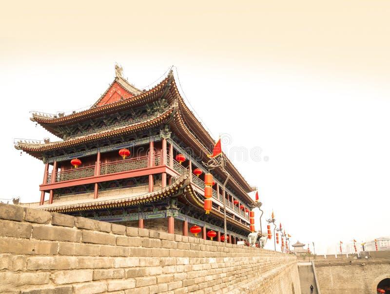 Fortalecimientos de Xian (Sian, Xi'an) una capital antigua de China fotografía de archivo libre de regalías