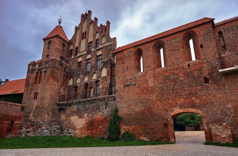 Fortalecimientos medievales en la ciudad de Torun fotos de archivo