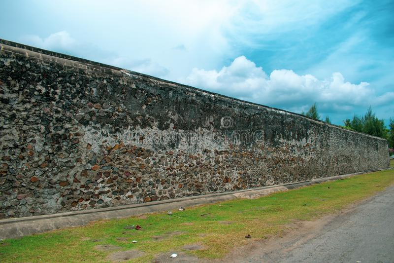 Fortaleza Aceh Indonésia de Indrapatra imagens de stock royalty free