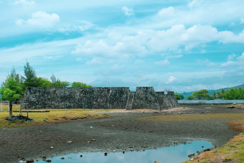 Fortaleza Aceh Indonésia de Indrapatra fotos de stock royalty free