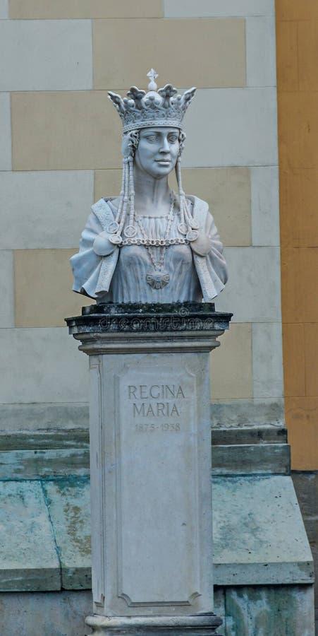 Fortaleza Alba Carolina da citadela, estátua da rainha Marie imagem de stock