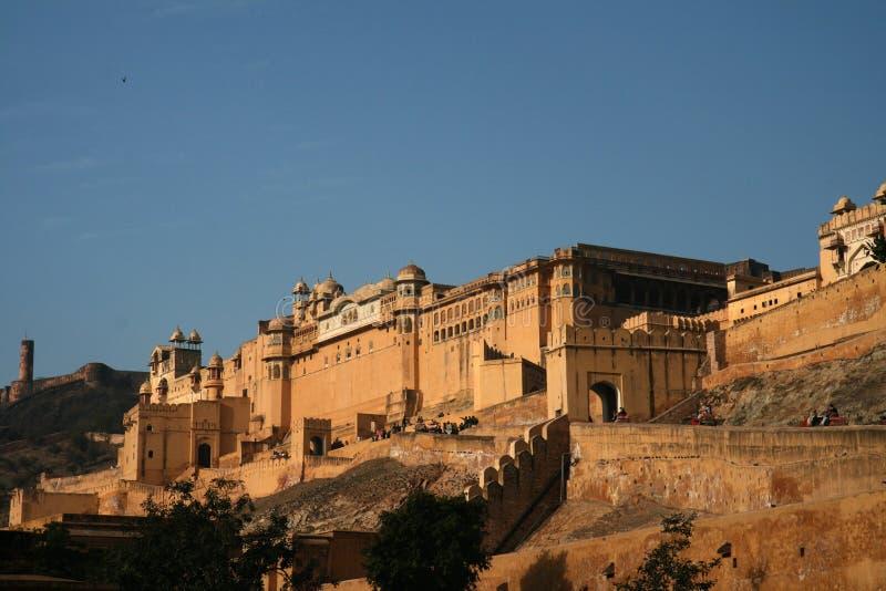 Fortaleza ambarina, Jaipur, la India foto de archivo