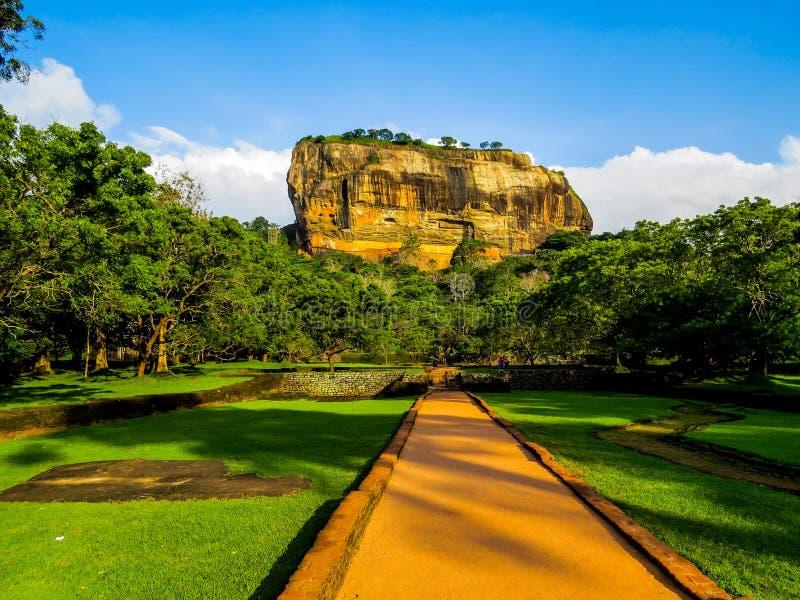 Fortaleza antiga da rocha de Sigiriya, Sri Lanka imagem de stock royalty free