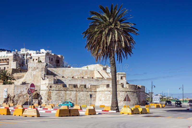 Fortaleza antiga de Marrocos, Tanger na cidade velha fotografia de stock