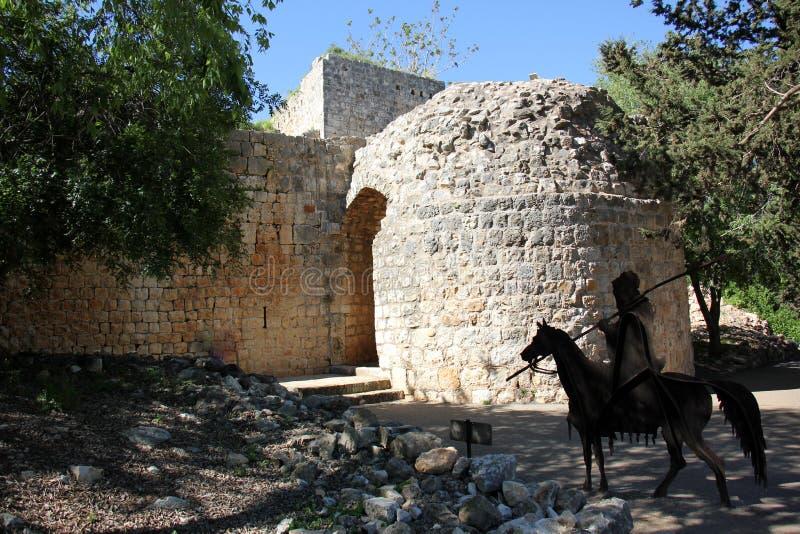 Fortaleza antiga Yehiam fotografia de stock