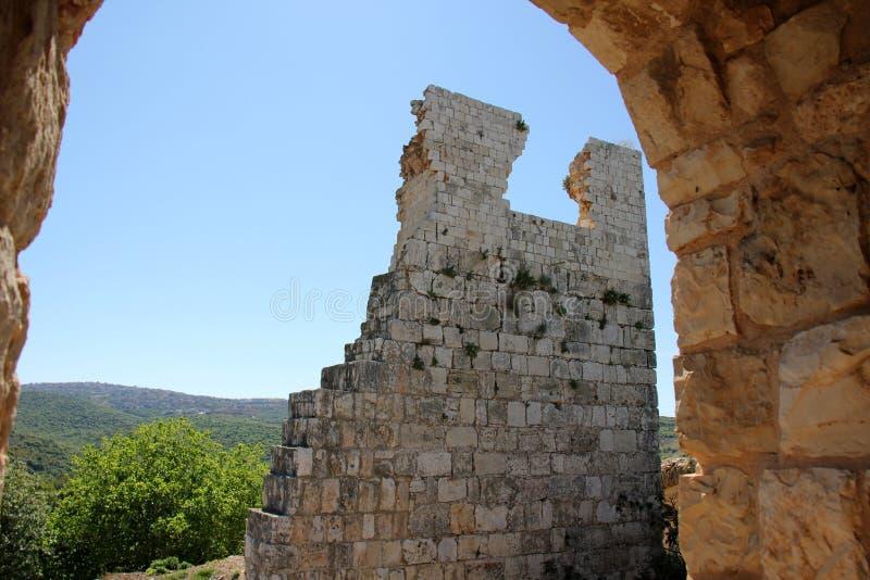 Fortaleza antiga Yehiam foto de stock