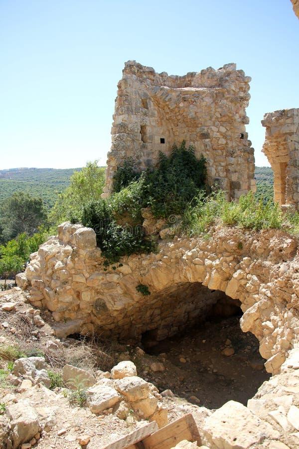 Fortaleza antiga Yehiam imagens de stock