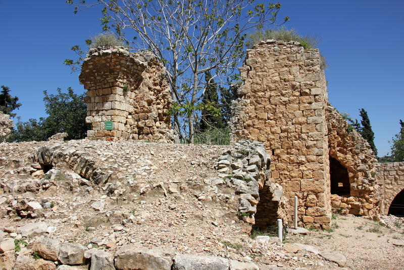 Fortaleza antiga Yehiam fotos de stock royalty free