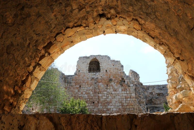 Fortaleza antiga Yehiam fotos de stock