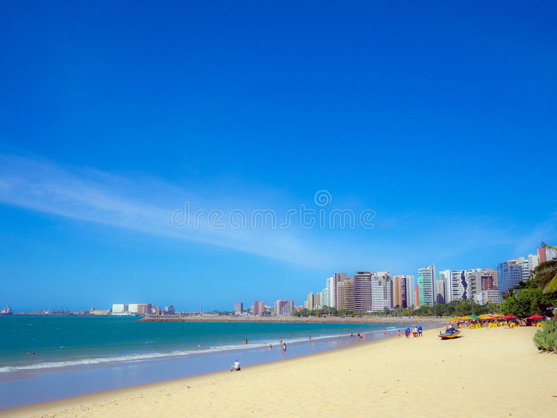 Fortaleza beach. Beach of Fortaleza in Ceara state Brazil royalty free stock images
