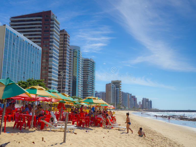 Fortaleza beach. Beach of Fortaleza in Ceara state Brazil royalty free stock image