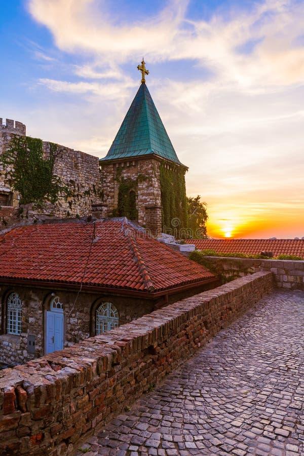 Fortaleza Beograd - Serbia de Kalemegdan imagen de archivo