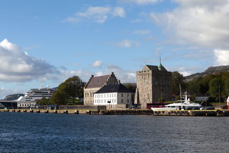 Fortaleza Bergenhus bergen noruega fotografia de stock royalty free
