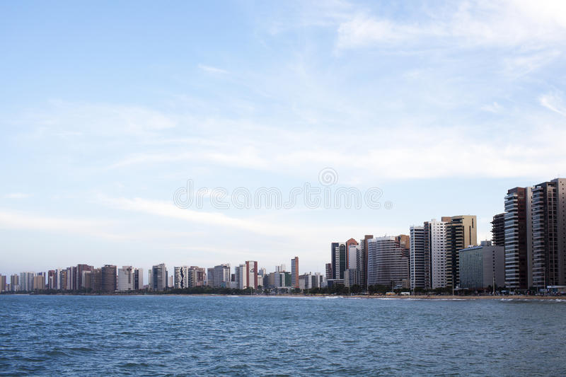 Fortaleza in Brasil. Cityline of Fortaleza in Brasil royalty free stock photo