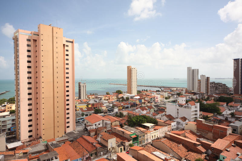 Fortaleza in Brasil. Place of FIFA world Cup 2012 royalty free stock photography