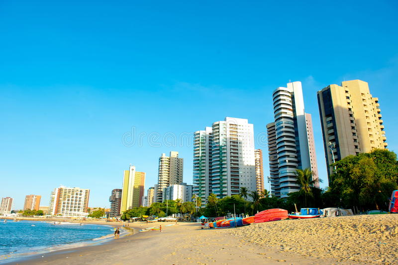 Fortaleza. BRAZIL - NOVEMBER 1, 2014: Coast Line of , Ceara State, city of northeast of Brazil royalty free stock photography