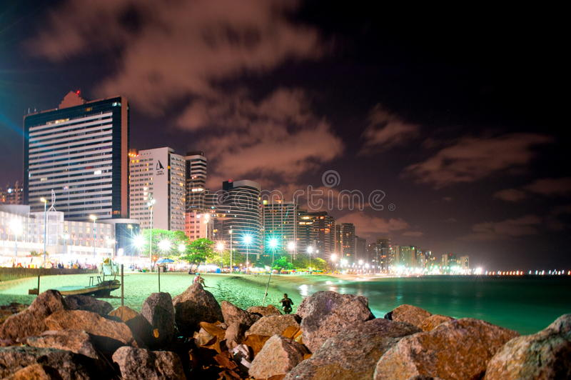 Fortaleza. BRAZIL - OCTOBER 31, 2014: Coast Line of , Ceara State, city of northeast of Brazil stock photos