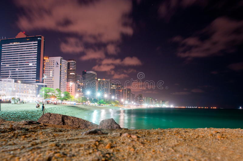Fortaleza. BRAZIL - OCTOBER 31, 2014: Coast Line of , Ceara State, city of northeast of Brazil stock photo