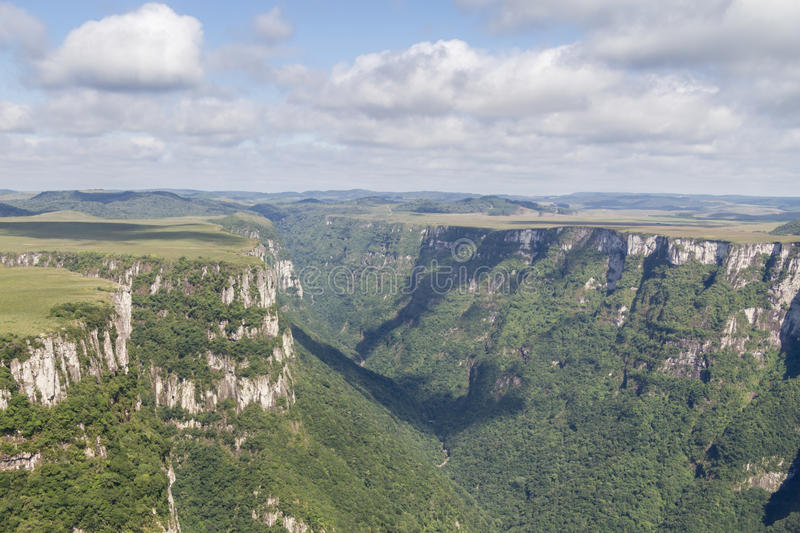 Fortaleza Canyon. Cliffs at Fortaleza Canyon, Cambara do Sul, Rio Grande do Sul, Brazil stock images