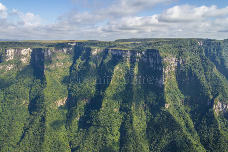 Fortaleza Canyon. Cliffs at Fortaleza Canyon, Cambara do Sul, Rio Grande do Sul, Brazil stock image