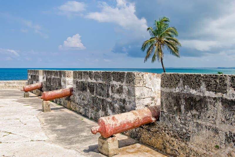 Fortaleza con los cañones   foto de archivo libre de regalías