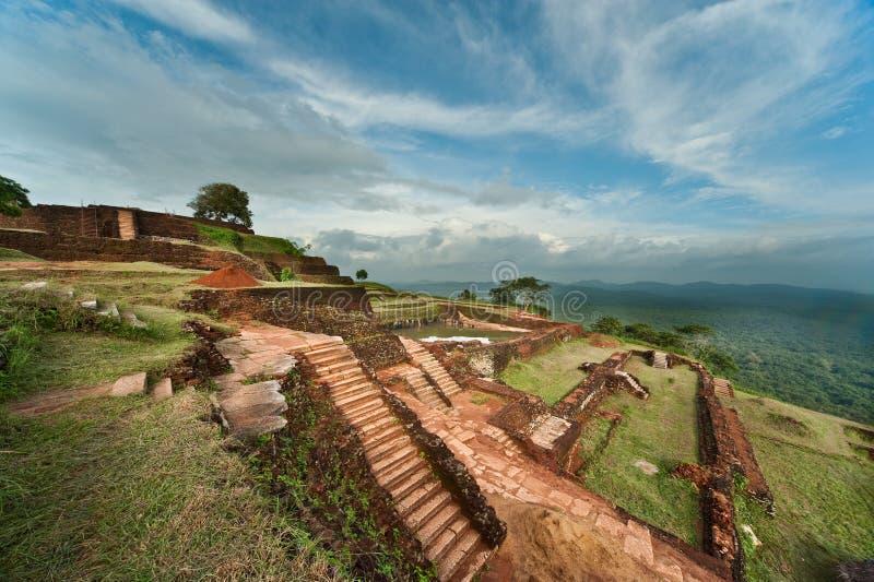 Fortaleza da rocha de Sigiriya, Sri Lanka foto de stock