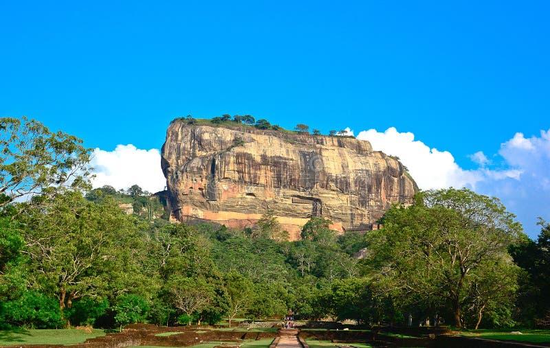 Fortaleza da rocha de Sigiriya, Sri Lanka foto de stock royalty free
