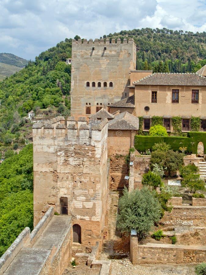 Fortaleza de alhambra fotografia de stock