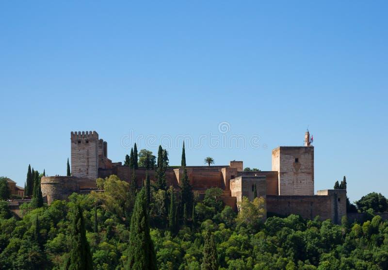 Fortaleza de Alhambra, Espanha fotos de stock royalty free