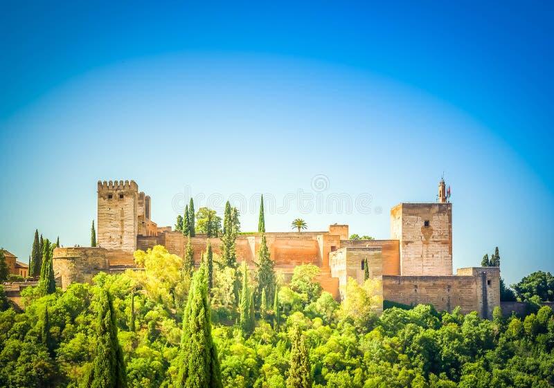 Fortaleza de Alhambra, Spain imagem de stock
