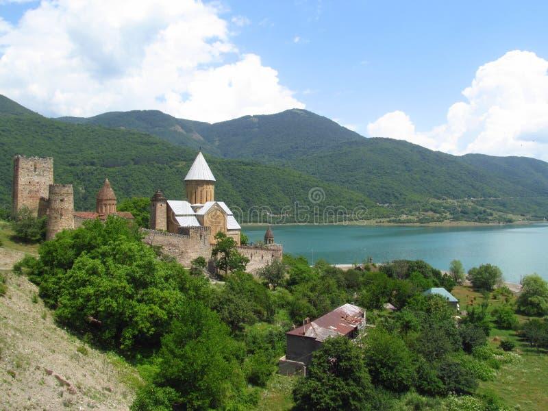 Fortaleza de Ananuri en Georgia fotografía de archivo libre de regalías