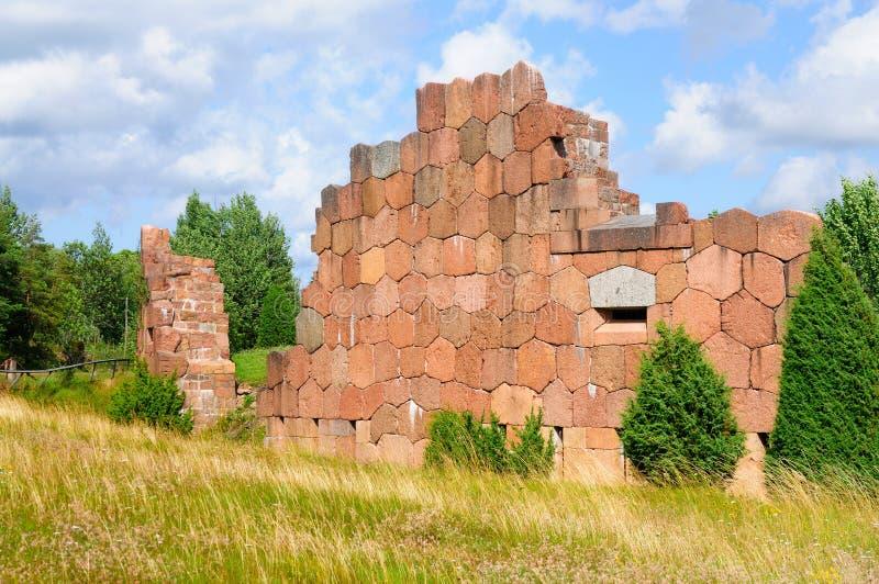 Fortaleza de Bomarsund, Aland, Finlandia fotografia de stock