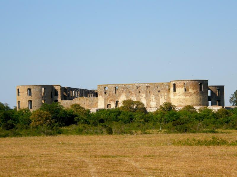 Fortaleza de Borgholm foto de archivo