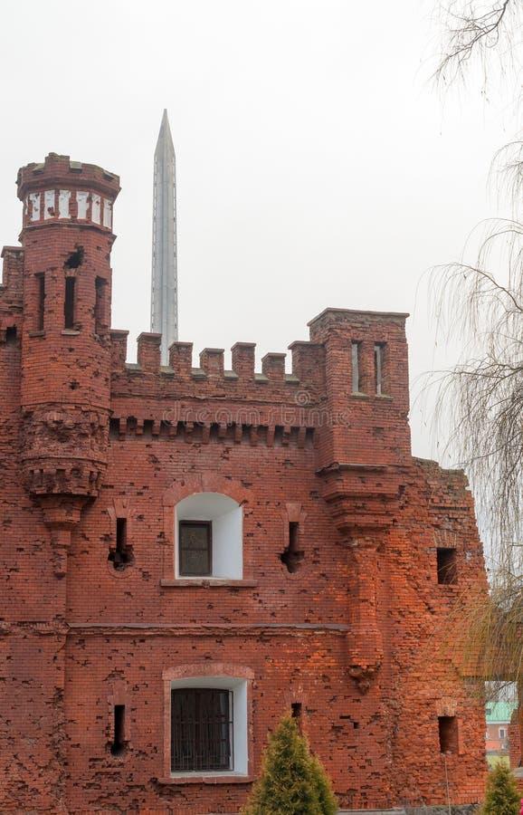 Fortaleza de Bresta A memória da segunda guerra mundial fotografia de stock royalty free