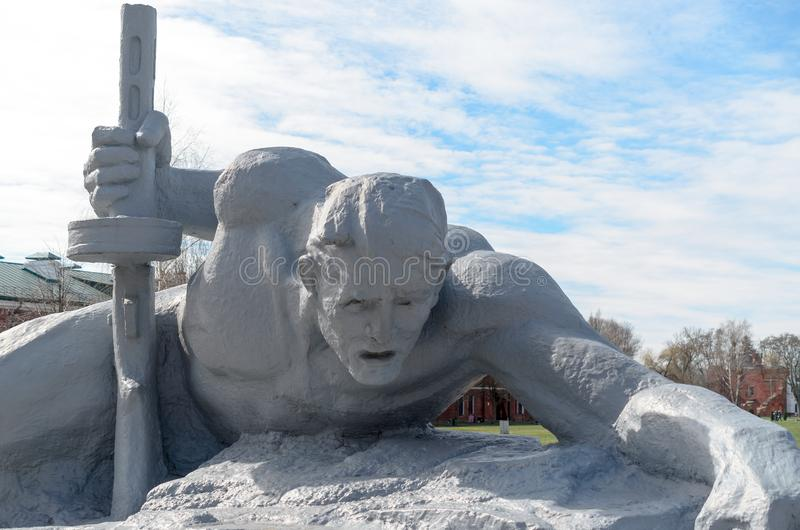 Fortaleza de Bresta A memória da segunda guerra mundial imagem de stock royalty free