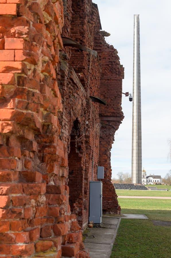 Fortaleza de Bresta A memória da segunda guerra mundial fotografia de stock
