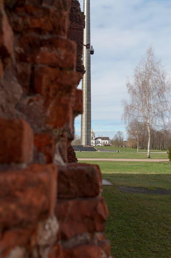 Fortaleza de Bresta A memória da segunda guerra mundial foto de stock