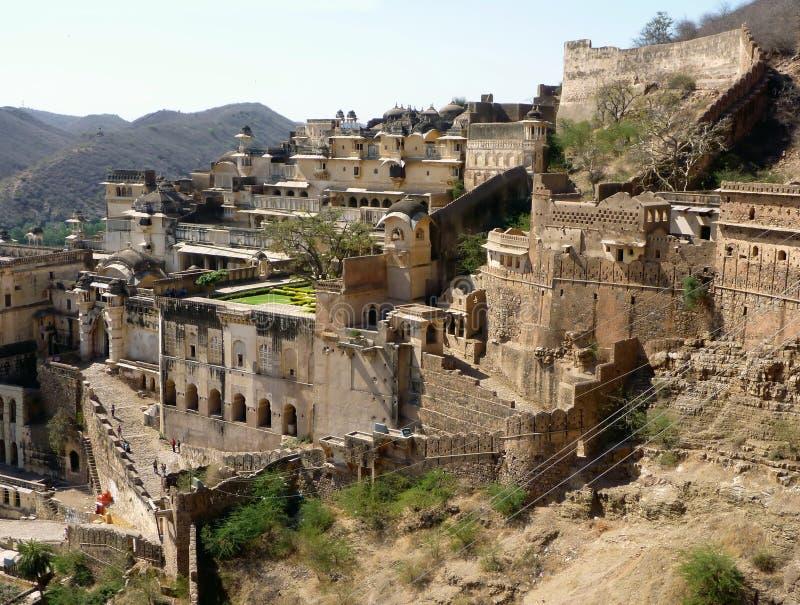 Fortaleza de Bundi, la India del palacio foto de archivo