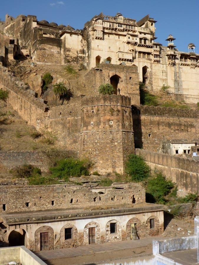 Fortaleza de Bundi, la India del palacio foto de archivo libre de regalías