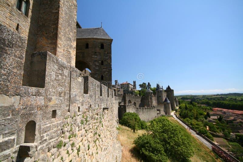 Fortaleza de Carcassonne imagens de stock