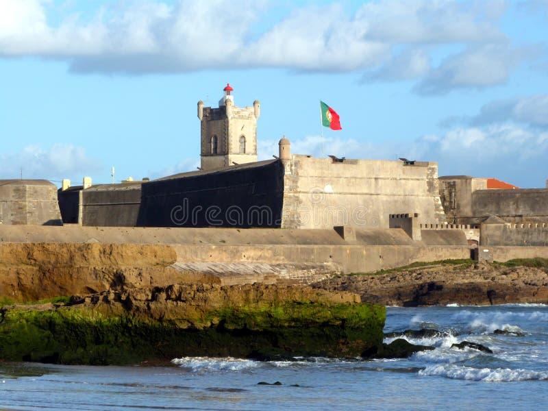 Fortaleza de Carcavelos (Cascais, Portugal) imagens de stock