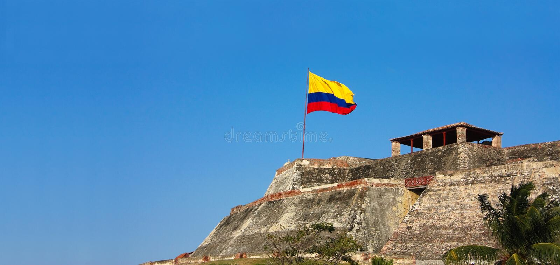 Fortaleza de Cartagena, Colombia imágenes de archivo libres de regalías