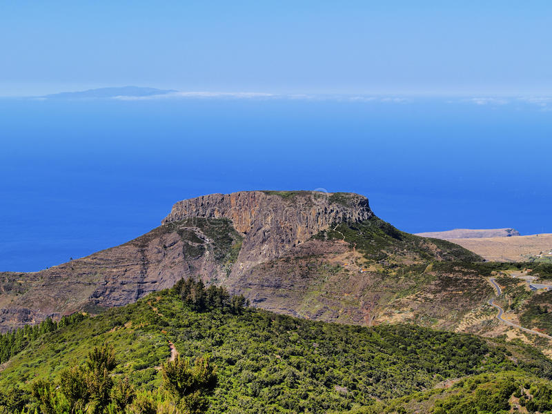 Fortaleza de Chipude on Gomera stock images